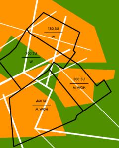 Beispiel für eine Bodenrichtwertkarte